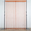 3ft x 12ft Coral Silk Tassel Door String Curtain