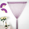 12 Ft Long Violet Amethyst Silk String Tassels Backdrop Curtains for Party