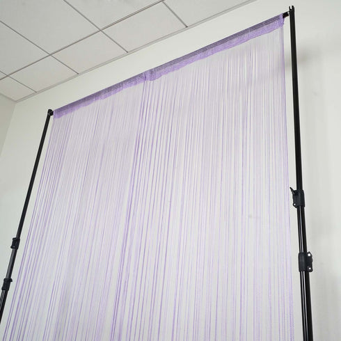 3ft x 12ft Violet Silk Tassel Door String Curtain