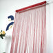 12 Ft Long Burgundy Silk String Tassels Backdrop Curtains for Party