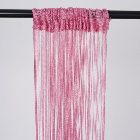 3ft x 12ft Pink Silk Tassel Door String Curtain