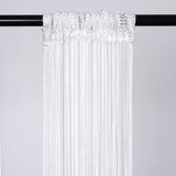 3ft x 12ft White Silk Tassel Door String Curtain