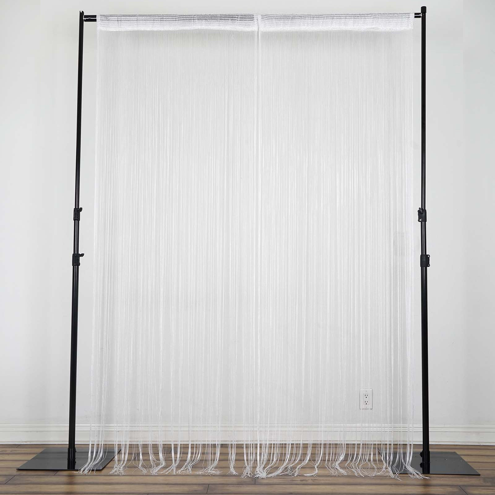 3ft x 12ft White Silk Tassel Door String Curtain  sc 1 st  eFavormart.com & 3ft x 12ft White Silk Tassel Door String Curtain For Wedding Home ...