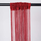 3ft x 8ft Burgundy Silk Tassel Door String Curtain