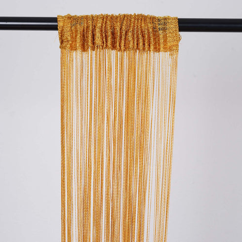 3ft x 8ft Gold Silk Tassel Door String Curtain