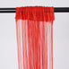 3ft x 8ft Red Silk Tassel Door String Curtain