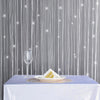 3FT x 8FT Silk Tassel String Curtains, Decorative Room Dividers - White/Silver