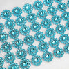 "5"" x 10 Yards Turquoise Fleur Diamond Rhinestone Ribbon Wrap Roll"
