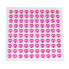 600 Pcs Fushia Diamond Rhinestone Heart Shaped Stickers