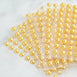600 Pcs Gold Diamond Rhinestone Heart Shaped Stickers
