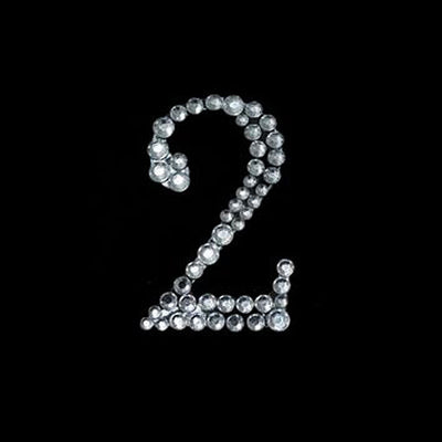 Crystal Birthday Anniversary Number Rhinestones - 2 - 10pcs