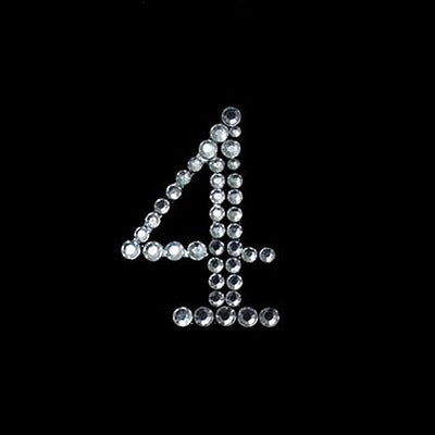 Crystal Birthday Anniversary Number Rhinestones - 4 - 10pcs