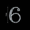 10 PCS Crystal Number Rhinestones - 6