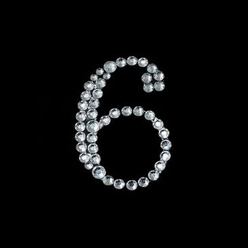 Crystal Birthday Anniversary Number Rhinestones - 6 - 10pcs