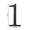 4 inch Black Self-Adhesive Rhinestone Number Stickers for DIY Crafts - 5