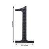 "6"" Silver Self-Adhesive Rhinestone Number Stickers for DIY Crafts"