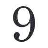 6 inch Black Self-Adhesive Rhinestone Number Stickers for DIY Crafts - 9