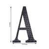 6 inch Black Self-Adhesive Rhinestone Letter Stickers, Alphabet Stickers for DIY Crafts - G