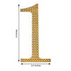 6 inch Gold Self-Adhesive Rhinestone Number Stickers for DIY Crafts - 3