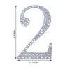 "6"" Silver Self-Adhesive Rhinestone Number Stickers for DIY Crafts - 2"