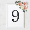 8 inch Black Self-Adhesive Rhinestone Number Stickers for DIY Crafts - 9