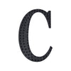 8 inch Black Self-Adhesive Rhinestone Letter Stickers, Alphabet Stickers for DIY Crafts - C