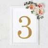 8 Inch | Gold Self-Adhesive Rhinestone Number Stickers for DIY Crafts - 3