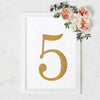 "8"" Gold Self-Adhesive Rhinestone Number Stickers for DIY Crafts - 5"