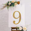 "8"" Gold Self-Adhesive Rhinestone Number Stickers for DIY Crafts - 9"