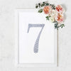 "8"" Silver Self-Adhesive Rhinestone Number Stickers for DIY Crafts - 7"