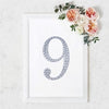 "8"" Silver Self-Adhesive Rhinestone Number Stickers for DIY Crafts - 9"