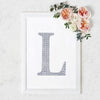 "8"" Silver Self-Adhesive Rhinestone Letter Stickers, Alphabet Stickers for DIY Crafts - L"