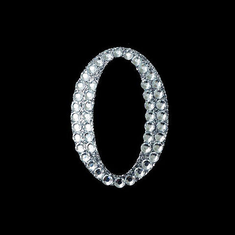 Set Of 10 Wholesale Crystal Birthday Anniversary Glittered Number Rhinestones - O