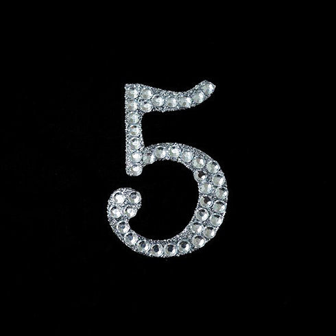 Set Of 10 Wholesale Crystal Birthday Anniversary Glittered Number Rhinestones - 5