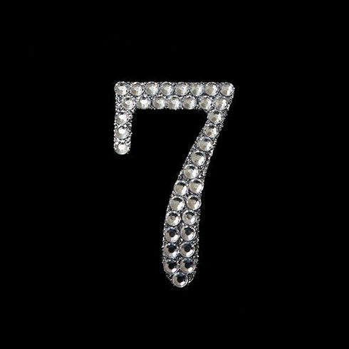 Glittered Number Rhinestones - 7 - Set Of 10