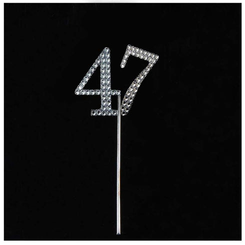 10 PCS Crystal Glittered Number Rhinestones - 7