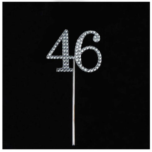 10 PCS Crystal Glittered Number Rhinestones - 4