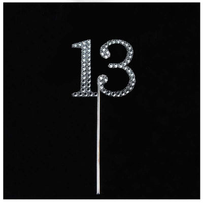 10 PCS Crystal Glittered Number Rhinestones - 3