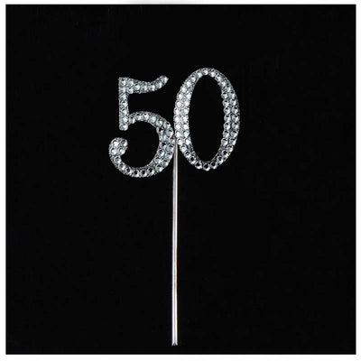 10 PCS Crystal Glittered Number Rhinestones - 5
