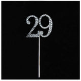 10 PCS Crystal Glittered Number Rhinestones - 9