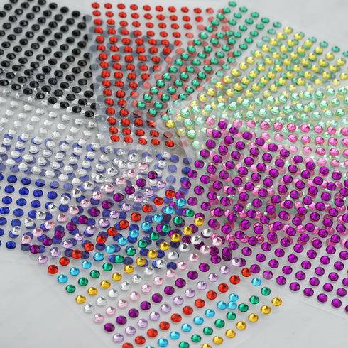 1056 Pcs | Clear | Self Adhesive Rhinestone Sheets Wholesale I Adhesive Gemstones