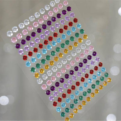 1056 Pcs Rainbow Diamond Rhinestone Stickers