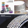 3FT Iridescent Stick on Rhinestone Tape - DIY Self Adhesive Diamond Rhinestone Stickers
