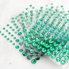 594 Pcs Multi-sized Emerald Green Rhinestone Stickers