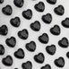 600 Pcs Heart Design Black Diamond Rhinestone Stickers