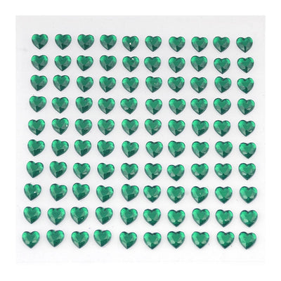 600 Pcs Heart Design Emerald Diamond Rhinestone Stickers