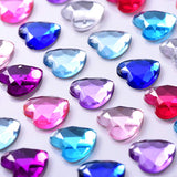 600 Pcs Heart Design Sapphire Diamond Rhinestone Stickers
