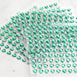6 Sheets | 600 Pcs Emerald Heart Design Self Adhesive Diamond Rhinestone DIY Stickers