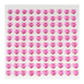 6 Sheets | 600 Pcs Fushia Heart Design Self Adhesive Diamond Rhinestone DIY Stickers
