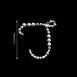 "12 Pack - 1.5"" Clear Rhinestone Monogram Sticker Self Adhesive Bling Diamond Letters For DIY"